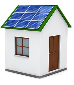 Zonnepanelen op dak van huis